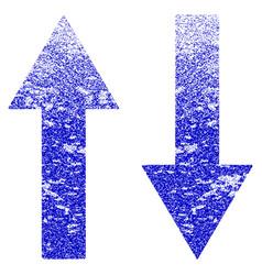 Vertical flip arrows grunge textured icon vector
