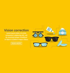 vision correction banner horizontal concept vector image vector image