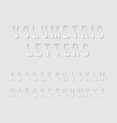 volumetric cutout alphabet letters realistic 3d vector image vector image