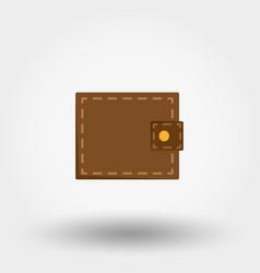 wallet flat design vector image vector image