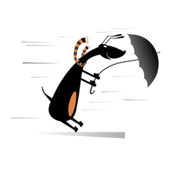 Windy day vector
