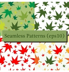 Autumn fall maple leaves seamless pattern vector image