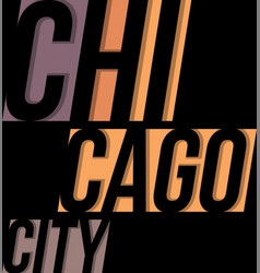 Chicago t-shirt tee design typography print vector