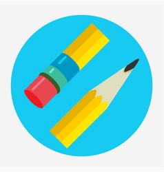 pencil icon flat logo vector image