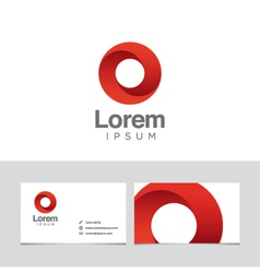 circle logo vector image