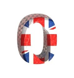 Great britain cutted figure 0 paste to any vector