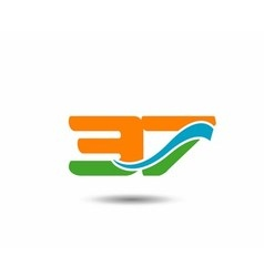 37 anniversary wave logo vector image vector image