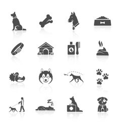 Dog icons set vector