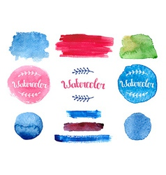 Watercolor collection vector