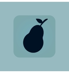 Pale blue pear icon vector