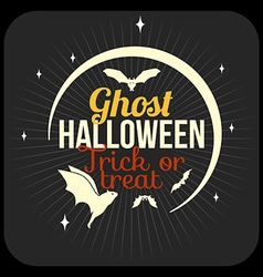 Retro happy halloween badge sticker label design vector