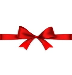 Red satin bow vector