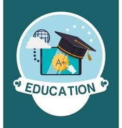 Education and school icons vector