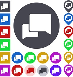Color conversation icon set vector