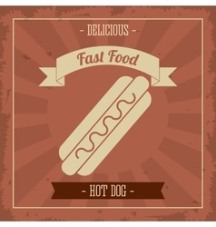 Hot dog icon menu and food design graphic vector