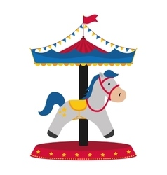 Carrousel circus festival vector