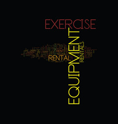 Exercise equipment rental text background word vector