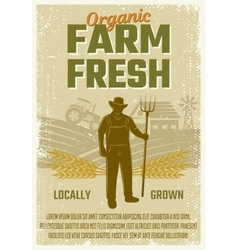 Farm retro style poster vector