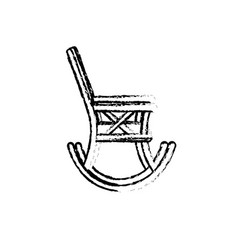 figure comfortable chair to relaxation object icon vector image vector image
