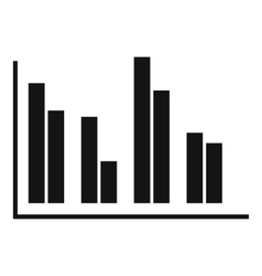 Financial analysis chart icon simple style vector image