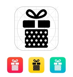 Gift box with dots icons on white background vector image vector image