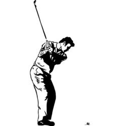 Golf pose vector