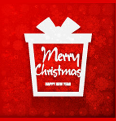 happy new year and merry christmas gift vector image