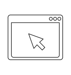 internet browser window vector image