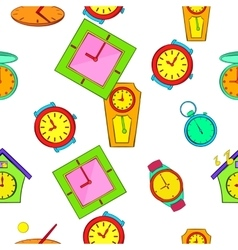 Kinds of watches pattern cartoon style vector