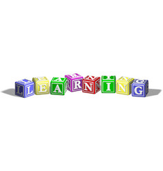 learning alphabet blocks vector image vector image