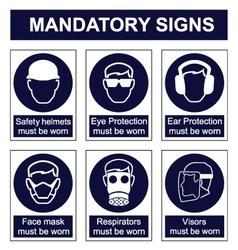 Mandatory Safety signs vector image
