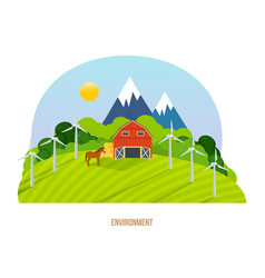 Nature and agriculture natural and organic food vector