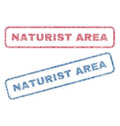 Naturist area textile stamps vector