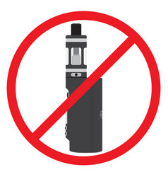 no vape sign prohibition no smoking vaporizer area vector image