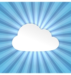 Paper cloud background vector