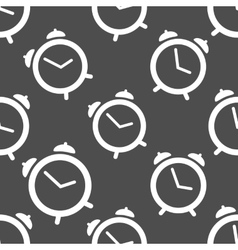 Pattern seamless with alarm clock vector