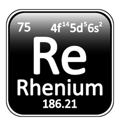 Periodic table element rhenium icon vector