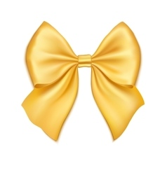 Realistic golden bow isolated on white background vector image