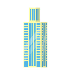 set of city buildings icons vector image vector image