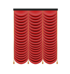 set of red curtains to theater stage mesh vector image