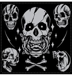 Skull Old school Style vector image