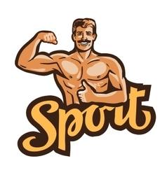 sport logo gym or bodybuilding icon vector image vector image