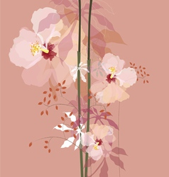 Natural flowers bouque vector
