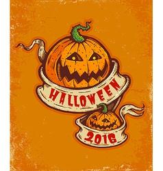 pumpkin orange vector image