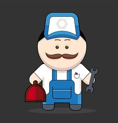 cute handyman-mechanic vector image