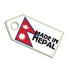 Made in Nepal vector image
