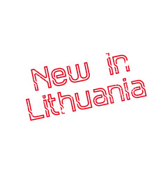 New in lithuania rubber stamp vector