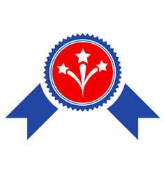Pyrotechnics award seal flat icon vector
