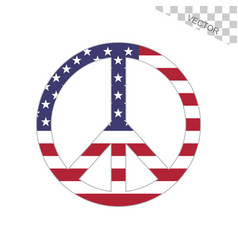 American flag peace sign vector