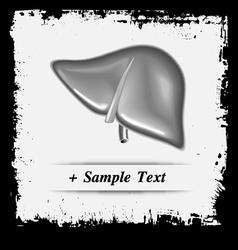 Paper art Human Liver vector image